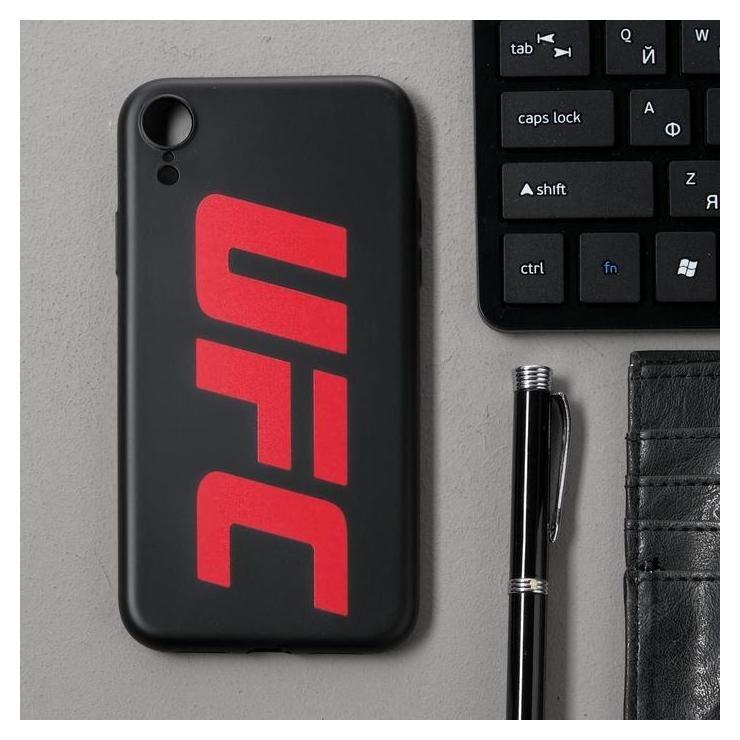 Чехол клип-кейс Red Line UFC для Iphone XR, силиконовый, черный Red line