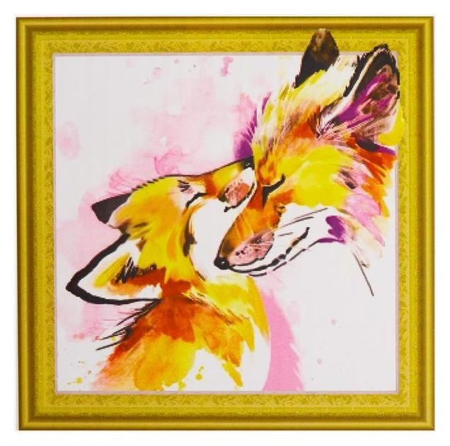 Алмазнаяная картина «Лиса и лисёнок» NNB