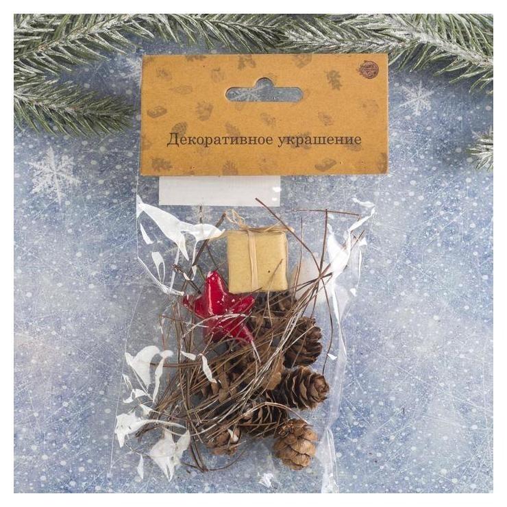 Набор новогоднего декора Незабываемый праздник размер шишек: 1,5 × 2 см NNB