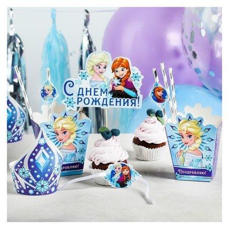 """Набор для оформления праздника """"С днем рождения!"""", холодное сердце, 40 предметов  Disney"""