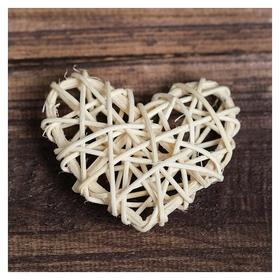 Декор для творчества из лозы «Сердце», цвет натуральный  NNB
