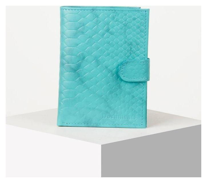 Обложка для автодокументов и паспорта, цвет бирюзовый NNB