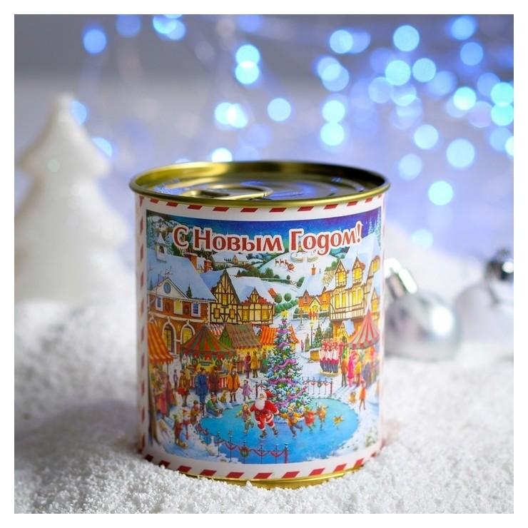 Чай в консервной банке С новым годом - винтаж 50 г НетНеСлипнется!