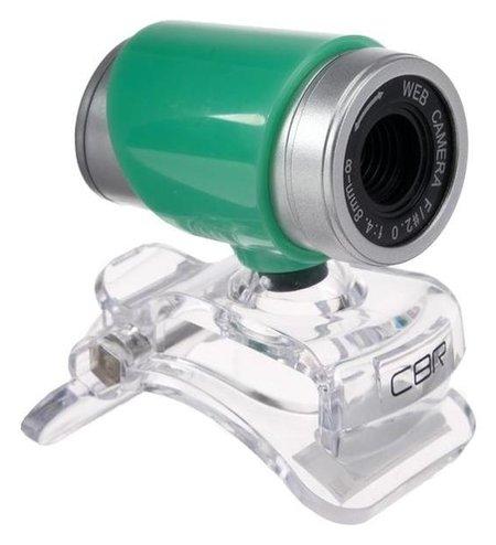 Веб-камера CBR CW 830m Green, 0.3 МП, 640х480, USB 2.0, микрофон, зеленая  CBR