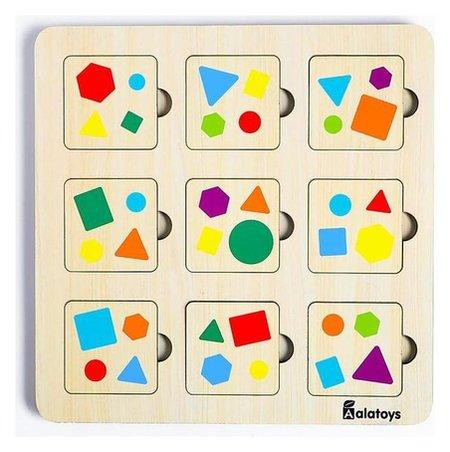 Мемори, 9 карточек, 9 ячеек, 21×21×0.6 см  Alatoys