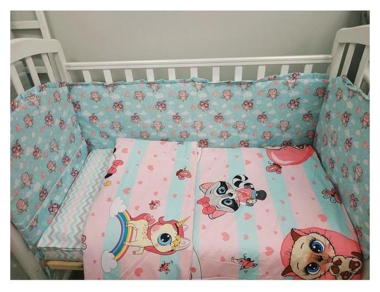 Комплект в кроватку 6 пр. «Малыши совушки» Сонная Сказка