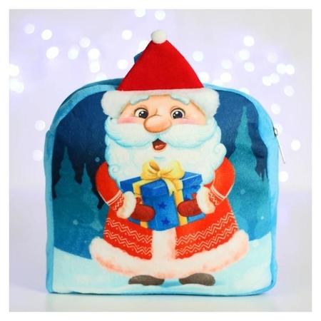 Рюкзак детский Дед мороз с подарком 24*24 см NNB