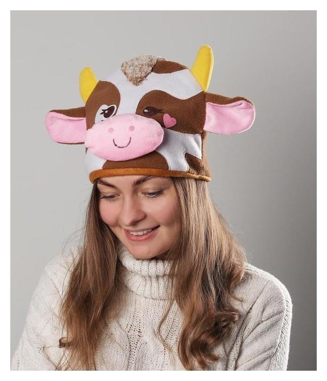 Карнавальная шапочка корова сердечко NNB
