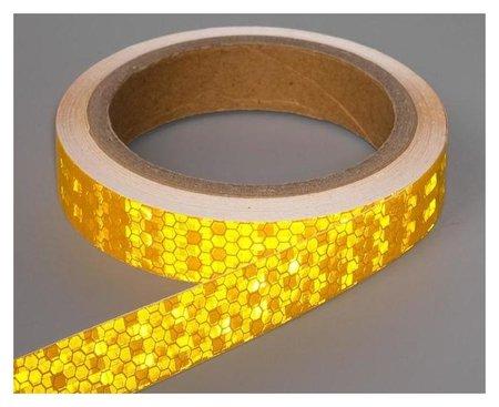 Светоотражающая лента, самоклеящаяся, желтая, 2 см х 8 м  NNB