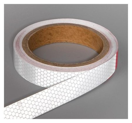 Светоотражающая лента, самоклеящаяся, красно-белая, 2 см х 8 м  NNB