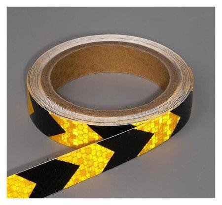 Светоотражающая лента, самоклеящаяся, черно-желтая, 2 см х 8 м  NNB