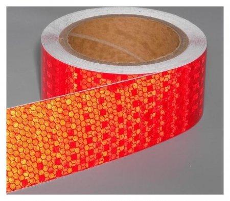 Светоотражающая лента, самоклеящаяся, красная, 5 см х 10 м  NNB