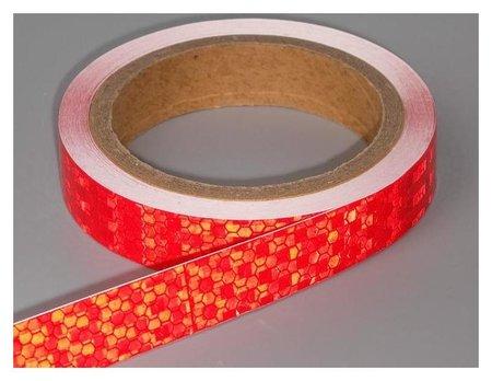 Светоотражающая лента, самоклеящаяся, красная, 2 см х 8 м  NNB