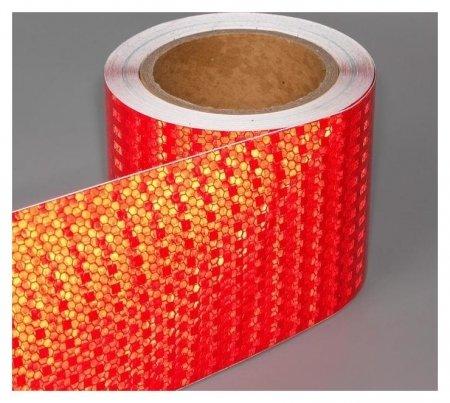 Светоотражающая лента, самоклеящаяся, красная, 10 см х 5 м NNB