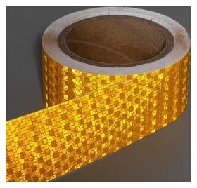 Светоотражающая лента, самоклеящаяся, желтая, 5 см х 10 м  NNB