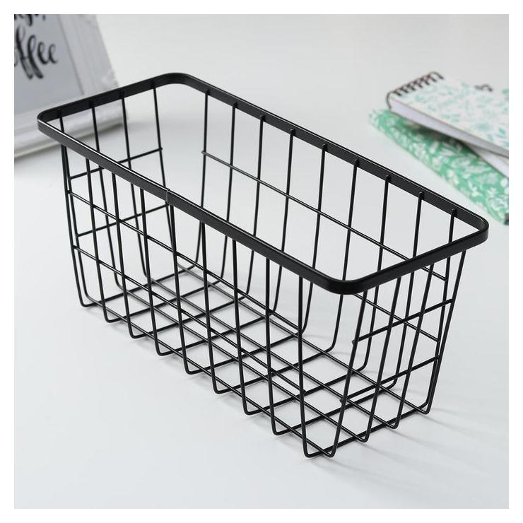 Корзинка для мелочей 29×11,5×13 см, цвет чёрный Доляна