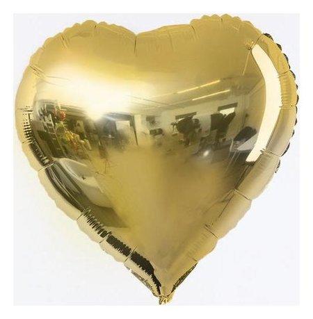 """Шар фольгированный 18"""" сердце, цвет золото  NNB"""