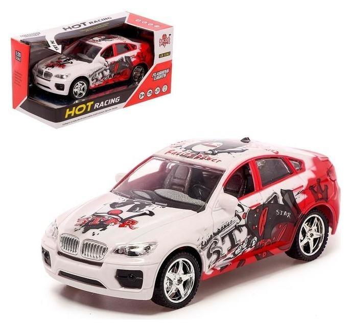Машина инерционная «Спорт», световые и звуковые эффекты, цвет белый NNB