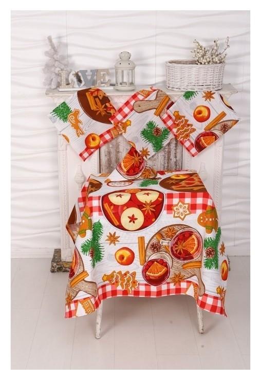 Столовый набор рогожка Пряничный домик DomoVita