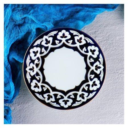 Тарелка 210 код 1008 пахта в золоте 21см  Turon Porcelain