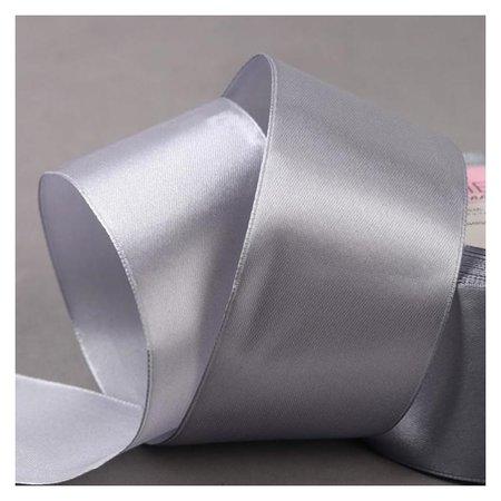 Лента атласная, 50 мм × 23 ± 1 м, цвет серый №59  Арт узор