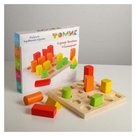 Логический игровой набор «Сортер-вкладыш. геометрия» 17 деталей  Томик