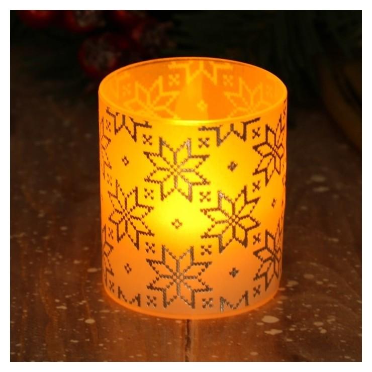 Электронная свеча Свитер 5 х 5,7 см  Зимнее волшебство