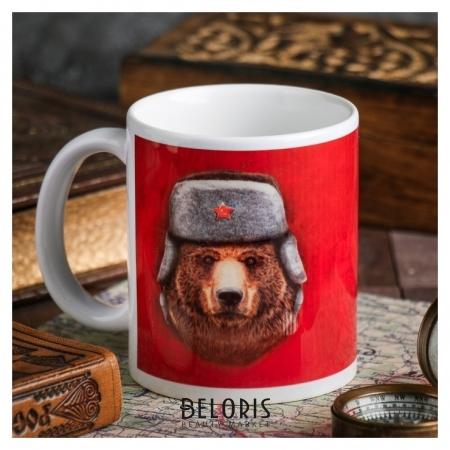 Кружка «С 23 февраля» медведь, 330 мл Дорого внимание
