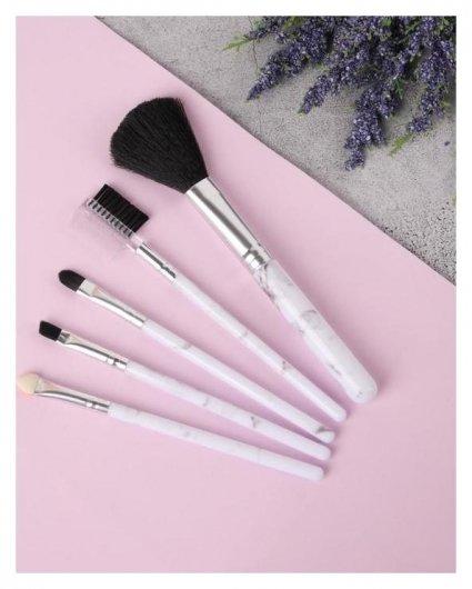 Набор кистей для макияжа «Мрамор», цвет белый  Queen Fair