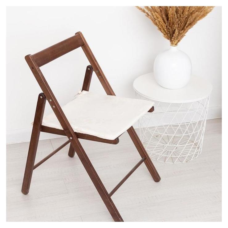 Сидушка на стул жаккард фиалка молочный 40х40х1,5см пэ100%  Witerra