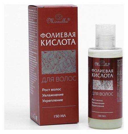 Эссенция для роста волос «Фолиевая кислота»  Mirrolla