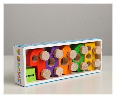 Фигурка деревянная «Каталка» «машинки томик» набор: 5 штук  Томик