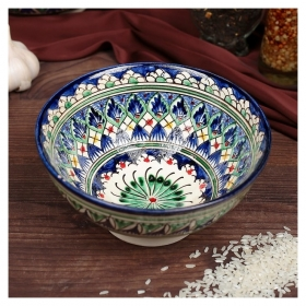 Коса малая голубая 15см Риштанская керамика