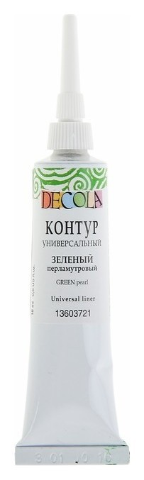 Контур универсальный Decola, 18 мл, Pearl, зелёный перламутр  Невская палитра