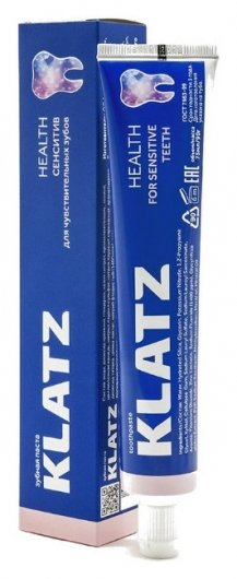 Зубная паста для чувствительных зубов Сенситив  Klatz