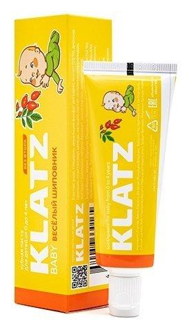 Зубная паста детская без фтора Веселый Шиповник  Klatz