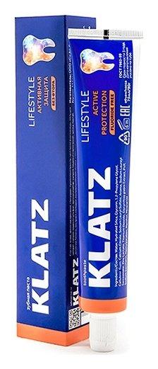 Зубная паста без фтора Активная защита  Klatz