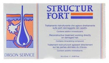 Средство Ампульное для восстановления безжизненных и ослабленных волос Structur Fortс Dikson Лечебные ампульные средства