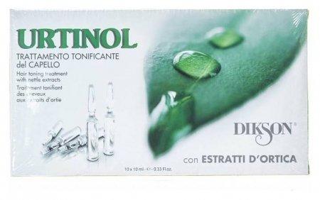 Средство для волос ампульное тонизирующее противосеборейное с экстрактом крапивы Urtinol Dikson Лечебные ампульные средства