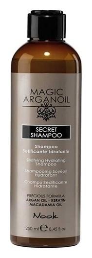 Шампунь разглаживающий и увлажняющий Магия Арганы Secret Shampoo  Nook