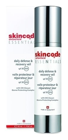 Крем для лица дневной защитный восстанавливающий SPF 30  Skincode