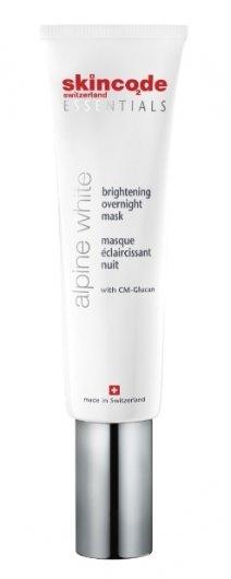 Маска для лица ночная осветляющая Alpine White  Skincode