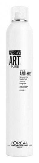 Спрей для волос сильной фиксации с защитой от влаги и УФ-лучей без запаха Fix Anti-Frizz Pure  L'oreal Professionnel