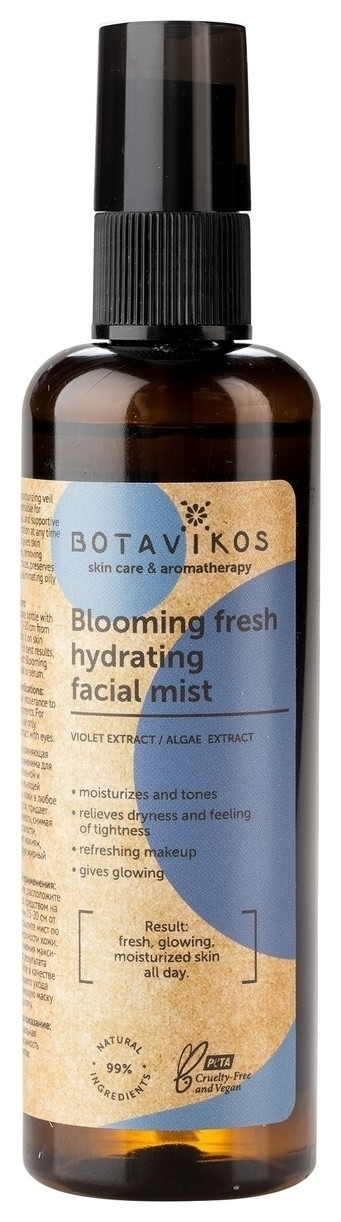 Мист для лица гидратирующий Blooming fresh hydrating facial mist  Botavikos
