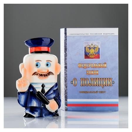 Штоф фарфоровый «Полиция», 0.35 л, в упаковке книге  Весёлый фарфор (Чайник)