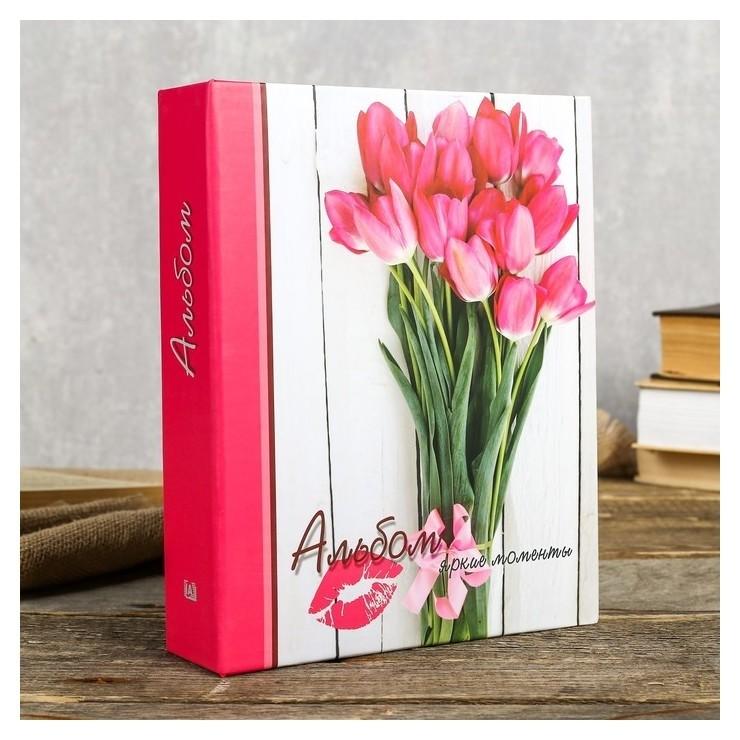 Фотоальбом на 200 фото Розовые тюльпаны Image Art 103 IA 10х15 см КНР