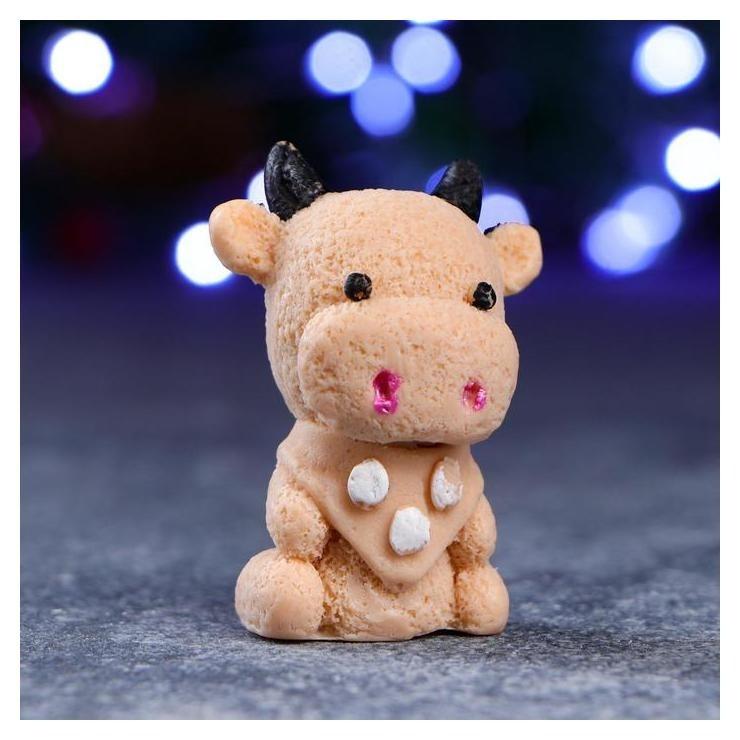 Мыло фигурное Символ года: бычок малыш коричневый КНР