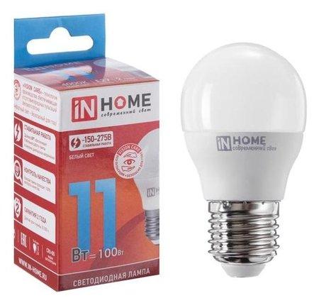 Лампа светодиодная IN Home Led-шар-vc, 11 Вт, е27, 230 В, 4000 К, 990 Лм  INhome
