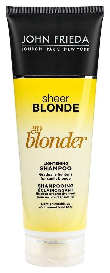 """Шампунь осветляющий для натуральных и окрашенных волос """"Sheer Blond Go Blonder""""  John Frieda"""