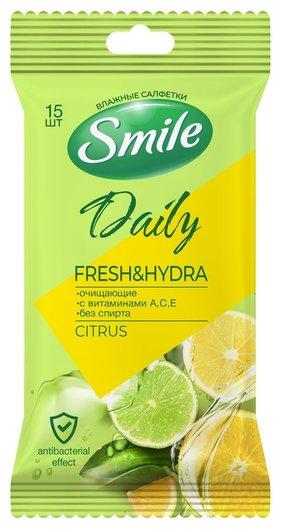 Салфетки влажные очищающие Citrus  Smile
